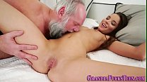 Teen banged by old man Preview