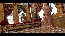 Ebony and blonde futanari babes entertaining the Egyptian princess image