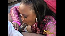 Chubby ebony stripper shows off her blowjob ski...