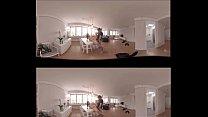 VR Porn 360 Brunette fucked on the table pornhub video