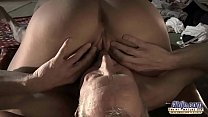 Very Old Man Fucks Very Young Girl And Cums On Her Tongue After Pussy Sex Image