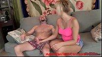 Horny Blonde Kate England POV Handjob AmericanT...