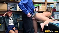 Skinny asian MILF mom fucks a cop to save her daughter