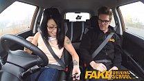 Fake Driving School wild ride for petite british Asian with glasses Vorschaubild