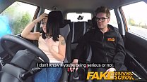 Fake Driving School wild ride for petite british Asian with glasses preview image