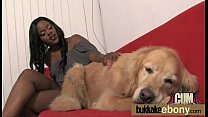 Ebony babe sucks and fucks several white dudes 24 video