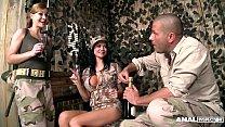 Anal Army Inspectors Jasmine Jae & Abbie Cat Fu...