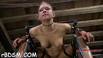 Chained girl wishes hardcore t. for her cunt