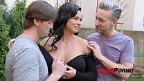 17342 Top-Heavy Porn Goddess Chloe Lamour DP'ed By Two Studs For Cum All Over Big Tits GP090 preview