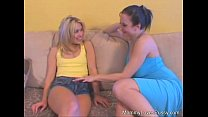 Busty MILF Fucks Hot Young Blonde Girl