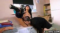 MILF Valentina rides stepsons giant dick Image