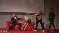 Image: threesome fuck orgy in public
