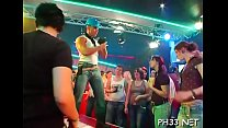 Tons of blow job from blondes and massing gangbang at night club