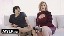 Lucky Stud Helps Horny Big Titted Milf With Som