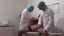 French squirt redhead ass inspected doublefist fucked at the gyneco thumbnail