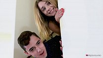 Lucky young Dude Gets to fuck stepmom and stepsister at the same time! - 69VClub.Com