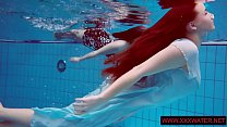 Big titted hairy and tattoed teens in the pool thumbnail