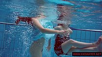 Big titted hairy and tattoed teens in the pool Image