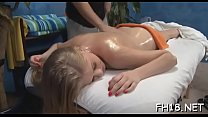 Sexy eighteen year old girl gets drilled hard from behind by her massage therapist