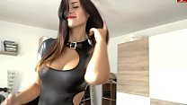 Fuck with girl in latex (home porn, cum on ass, cool tits) video