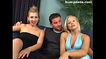 Lucky guy with two hot babes