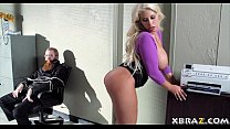 Huge tits blonde office bitch fucked during a b...