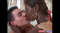 Ebony Girl In Interracial Double Penetration