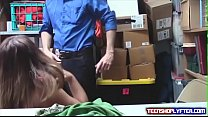 Big Tittied Teen Shoplyfter Groped and Fucked by Security Guard preview image