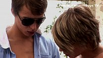 Buddies blonde Denis Klein and Ricco Luna from Hammerboys TV