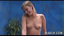 Kinky angel gets pussy massage