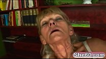Blonde granny Inci gets fucked by her younger l...