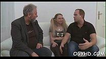 Skillful old dude slams juvenile pussy's Thumb