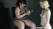 Blonde Satine Spark in bizarre lesbian humiliation and cruel submission