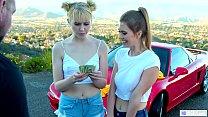 Lesbian College Girls Raise Money With Car Washing - Chloe Cherry, Jill Kassidy Vorschaubild