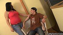 Young dude bangs fat girlfriend