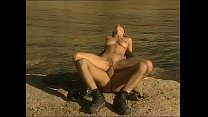 Romantic fuck at the sea for a little whore