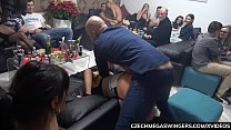 The Real Czech Mega Squirt at Swingers Party's Thumb