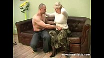 blonde mom and her young guy on sofa pornhub video
