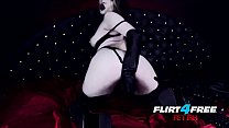 Sexy Goth Girl Fucks Herself in Latex Vorschaubild