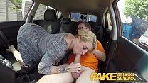 Fake Driving School British cheating blonde lou...