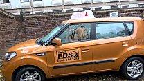 Fake Driving School British cheating blonde loula lou slurps up cumshot thumbnail