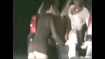 Real amateur lesbians. Two horny wives having fun in car