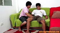 Asian teen twink couple getting naked