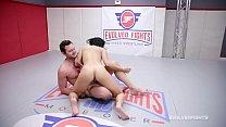 Busty Crystal Rush naked wrestling battle forced to suck cock Vorschaubild