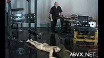 Teen obedient in bizarre bondage xxx porn act preview image