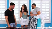 LANA RHOADES THREESOME - CHEATS & FUCKS 2 GUYS preview image