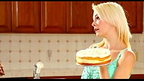 Lesbian Mom and daughter have cake time thumbnail