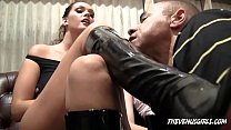 JESSI PALMER And ALLISON TYLER - BOOT & FEET SLAVE HUMILIATION thumbnail