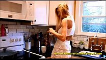 Kendra Sunderland Brand New Oiling Herself Up In The Kitchen's Thumb