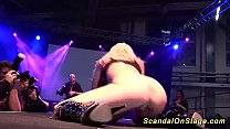 flexible MILF on show stage Image